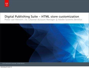 Digital Publishing Suite - HTML store customization - WoodWing ...