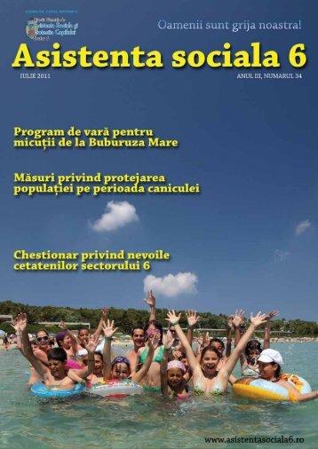 Revista DGASPC Sector 6, Numarul 34 - Iulie 2011 - Direcţia ...