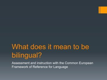 What does it mean to be bilingual? - Acpi.ca