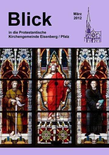 GOTTESDIENSTE März 2012 - Protestantische Kirchengemeinde ...