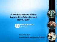 A North American Vision Automotive Sales Council May 5, 2008