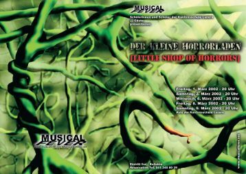Programmheft Little Shop of Horrors - Musical Fever