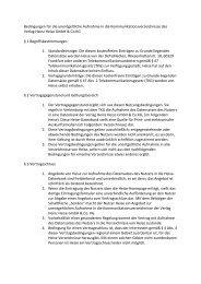 Bedingungen für die unentgeltliche Aufnahme in die ...