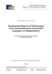Kommunalstrukturen in Niedersachsen - Niedersächsisches ...