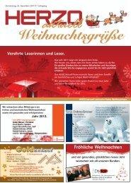 Frohe Weihnachten und ein gutes neues Jahr ... - HERZOaktuell