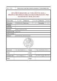 Vyhlášení přijímacího řízení pro AR 2012/2013 - Vysoká škola ...