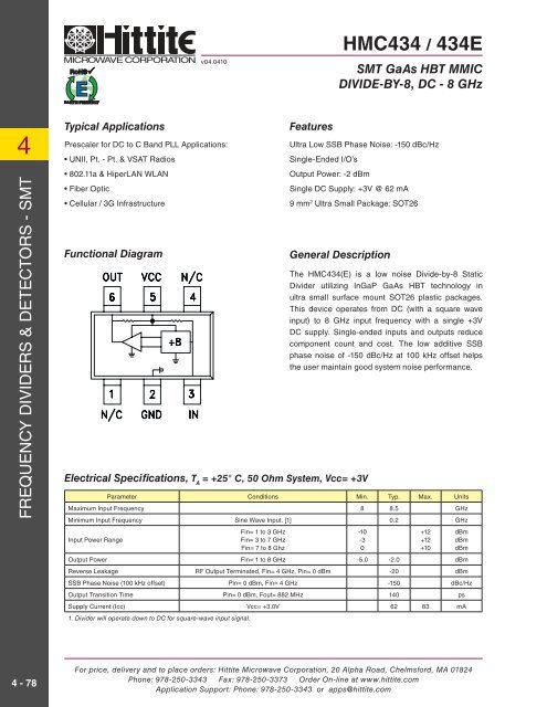 HMC434(E) - Hittite Microwave