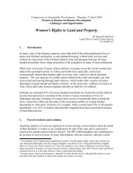 Women's Rights to Land and Property - UN-Habitat