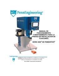 manual de funcionamiento y mantenimiento para la prensa