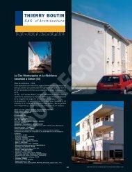 Dalle EP : GAMMA ISOLATION. - L'Architecture