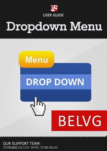 Dropdown Menu User Guide - BelVG Magento Extensions Store
