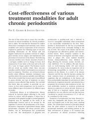 Cost-effectiveness of various treatment modalities for adult chronic ...