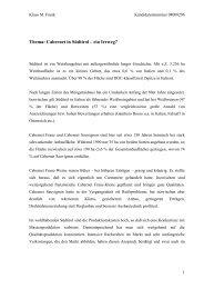Thema: Cabernet in Südtirol – ein Irrweg? - Weinakademie Österreich