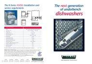 H50SU 4pp dishwasher - Hobart Food Equipment