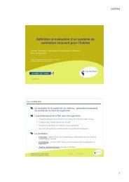 Définition et évaluation d'un système de ventilation innovant ... - Prebat