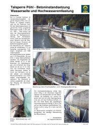 Talsperre Pöhl Instandsetzung der Hochwasserentlastung ...