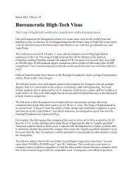 Bureaucratic High-Tech Visas - FosterQuan