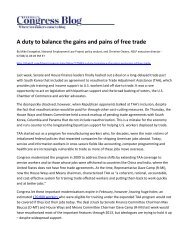 A duty to balance the gains and pains of free trade