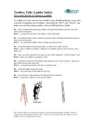Do's and Don'ts of Using a Ladder - National Work Zone Safety ...