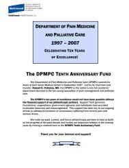 The DPMPC TENTH ANNIVERSARY FUND - Department of Pain ...