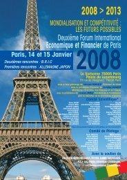 forum international economique et financier de paris - Congrès Eska