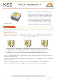KSS Solenoid Controlled Switch - Castell