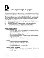 Sample Interview Questions and Approaches - Michigan Association ...