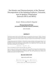 The Kinetics and Thermochemistry of the Thermal Decomposition of ...