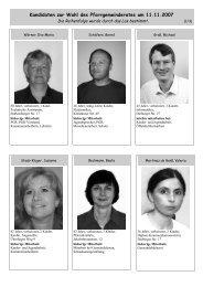 Kandidaten zur Wahl des Pfarrgemeinderates am 11.11.2007