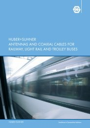 huber+suhner antennas and coaxial cables for railway ... - Composites