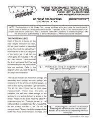 OE Spring Kit - Works Shocks