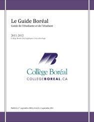 Le Guide Boréal - Collège Boréal