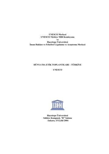 UNESCO Merkezi UNESCO Türkiye Milli Komisyonu ve Hacettepe ...
