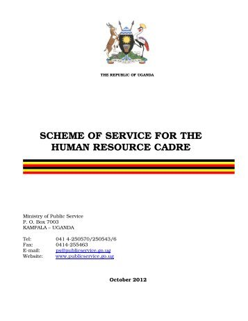 scheme of service for the human resource cadre - Ministry of Public ...
