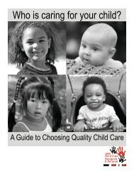 Who is caring for your child? - Iowa Child Care Resource & Referral