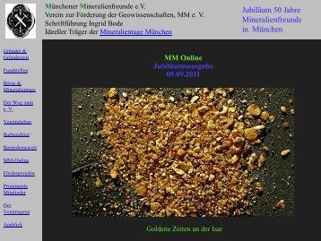Münchener Mineralienfreunde e.V. Verein zur Förderung der ...