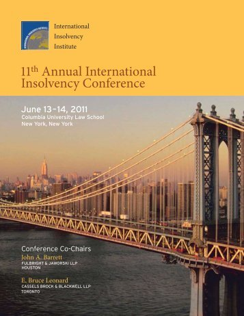 11th Annual International Insolvency Conference - Cassels Brock ...