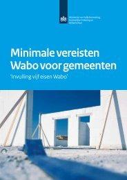 Download:Minimale vereisten Wabo voor gemeenten 'Invulling vijf ...