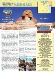ÉGYPTE * FORFAIT 12 JOURS - Voyages Cassis