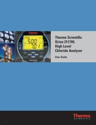 Orion 2117HL High Level Chloride Analyzer User Guide