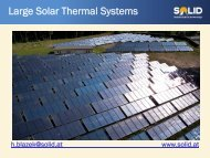 Large Solar Thermal Systems - Solution Concerto