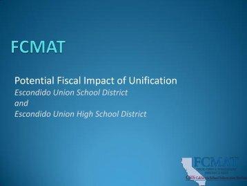 Escondido Unification Study - Board Presentation - EUSD