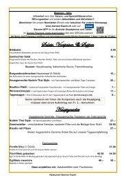 Speisekarte - Restaurant Sternen
