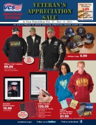 Veteran's appreciation sale - Veterans Canteen Service