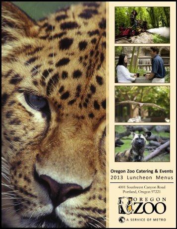Luncheon Menus - Oregon Zoo