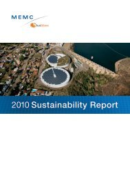 2010 Sustainability Report - MEMC Electronic Materials, Inc.