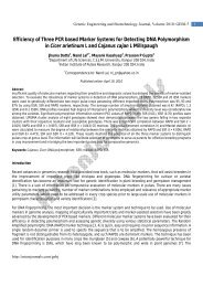 Efficiency of Three PCR based Marker Systems for ... - AstonJournals