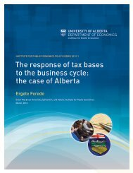 The response of tax bases to the business cycle: the case of Alberta