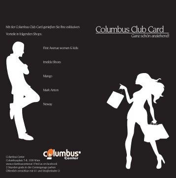 Columbus Club Card - Columbus Center