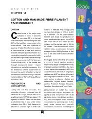 cotton and man-made fibre filament yarn industry - Ministry of Textiles